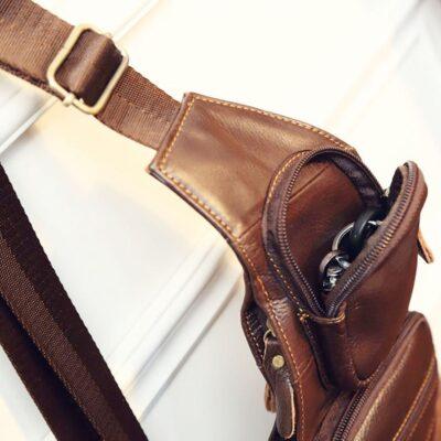 Leather Vintage Sling Chest Bag