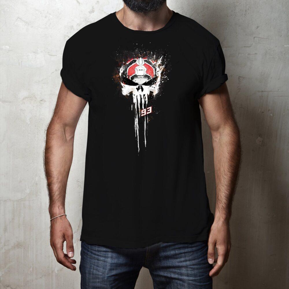 T-shirt Mark Marquez Punisher Black