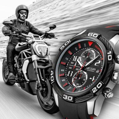 Motorbike Sports Quartz Stopwatch