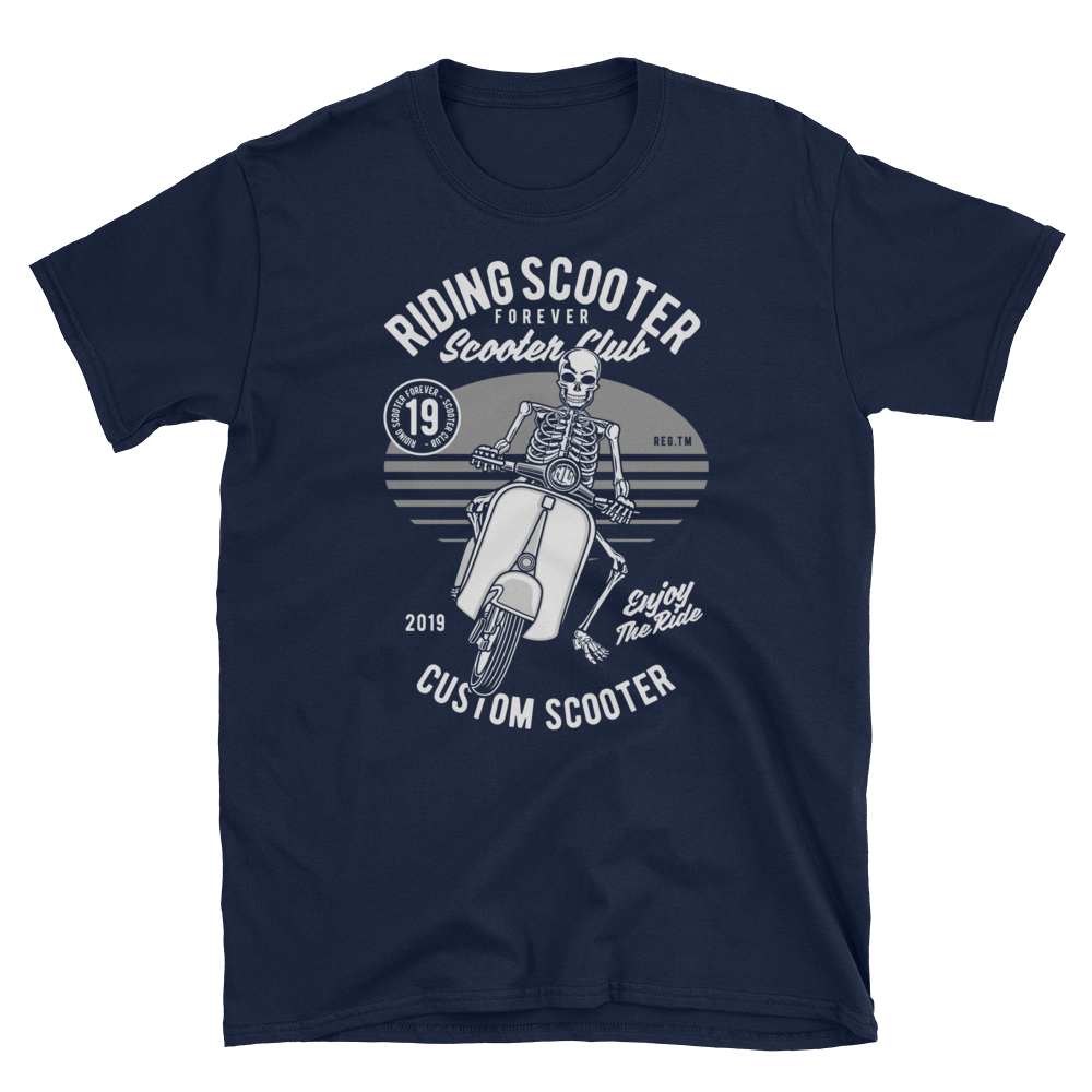 Riding Scooter Unisex T-Shirt